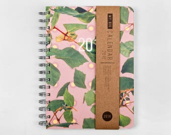 2018 Planner! High quality paper! Colorful leaves A5 Diary! Weekly daily Calendar Calendario Kalender Agenda Journal! Open-dated
