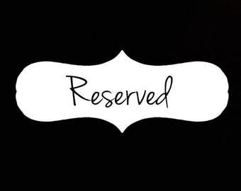 Reserved for LAUREN