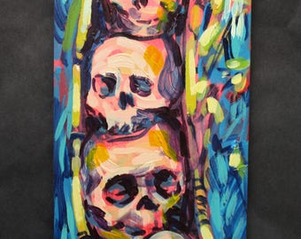 Trophies - Skulls in a Pod - Painting
