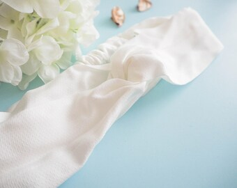 Head band style pinup double white vintage / retro
