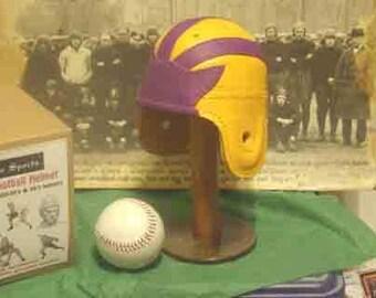 1940 Mini LSU Leather Football Helmet (1/3 scale)