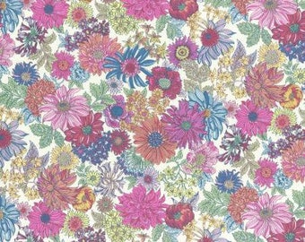 Lecien Memoire A Paris LAWN - Fat Quarter in Mixed Colour Floral
