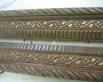 antique ornate wood frame with gold leaf