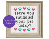 Snuggled Your Pet Cross S...