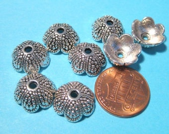 50% OFF Clearance Sale-- Antique Silver Acorn Tops Bead caps 13mm