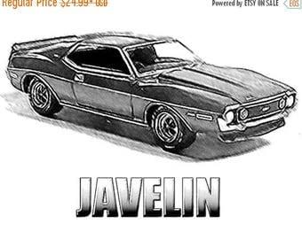 40% OFF Sale Javelin Drawing T-Shirt