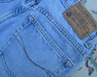 90s Pepe 'Betty' Mom Jeans High Waist Tapered Leg Light Wash 1990s Era Blue Jeans Pepe London