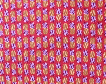 Fabric - Michael Miller - Party like a pineapple- salsa - medium weight woven cotton fabric.