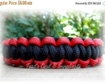 SALE Paracord Bracelet, Survival Bracelet, Cobra Knot, Custom, Handmade, Choose Any 2 Colors