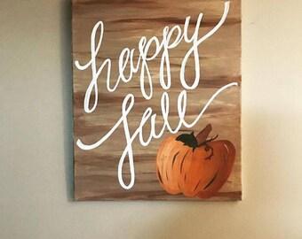 "Fall ""Wood"" Canvas"