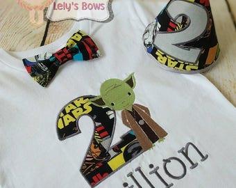 Star Wars birthday shirt, Star Wars birthday set, 1st birthday Star Wars shirt, embroidered Star Wars shirt, Star Wars party set, Star Wars