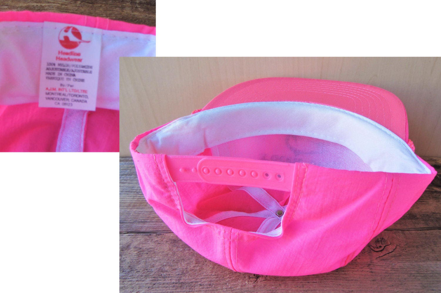 a8ef6f198fd PACIFIC WEST CHARTERS Vintage 90s Pink Neon Snapback Hat Fishing Tours  Defunct Promo Cap Rope Lined