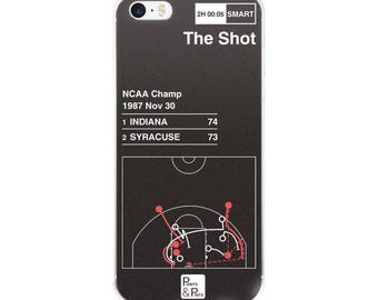 Indiana Basketball iPhone Case: The Shot (1987)