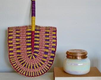 UNIQUE Hand Woven African Fan - SHIP 5.00