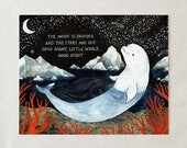 Baby Beluga Whale - Art Print Nursery Decor