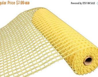 "SALE 21""x10yd windowpane mesh, yellow mesh, yellow windowpane mesh, yellow deco mesh, windowpane mesh, mesh, poly deco mesh,"