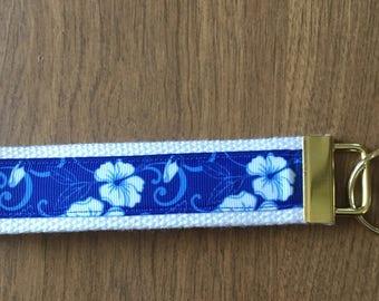 Flower Key Chain  Wristlet Zipper Pull