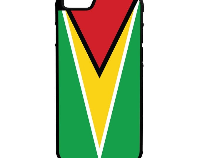 Flag of Guyana Hybrid Rubber Protective Phone Case