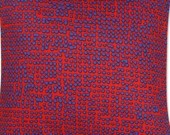 "Handmade Marimekko Orkanen, heavy weight cotton fabric pillow cushion cover case, 18x18"" (45x45cm)"