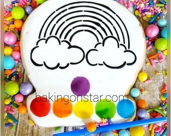 12 gourmet sugar cookies: rainbow