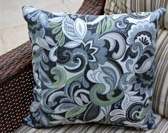 Arden Outdoor Pillows, Paisley Design 16 x 16