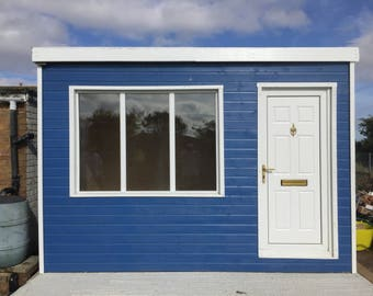 Garden Room Shed Office 12x8ft, choice of colours.