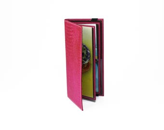 Hot Pink Tract Holder for Jehovah's Witnesses - Leather Service Items