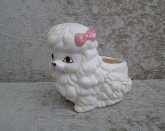 Little White Poodle Planter/Nursery Planter   #18055