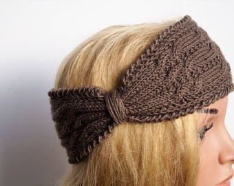 Brown Ear Watrmer,Wool Turban,Brown Ear Warmer,Ear Warmer Headband,Wool Headband,Knitted Ear Warmer,Handmade Headband,Wool Earwarmer