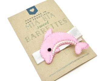 Pink Dolphin Hair Clip Barrette