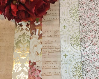 Gold Foil and French Flowers | Dividers : Set of 6