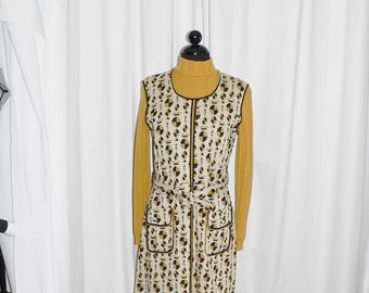 ON SALE 1960's Wenjilli Op Art Mod Dress