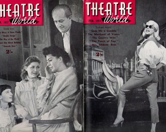 Theatre World Magazine 1957, COMPLETE YEAR , All 12 Issues,  in Very Good Condition