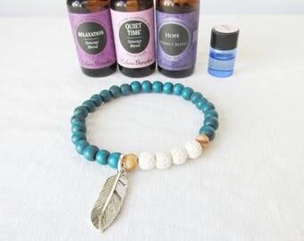 Kid's Lava stone Bracelet, Lava Bead Bracelet, Essential oil diffuser bracelet, oil diffuser bracelet, aromatherapy bracelet for kids