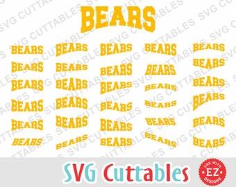 Bears svg, bears layouts, bears EZ Layouts, svg, eps, dxf, bears mascot, bears cut file, Silhouette, Cricut cut file, digital download