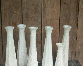 Milk Glass Vases Vintage Wedding Decor Wedding Table Settings Boho Wedding Garden Wedding Rustic