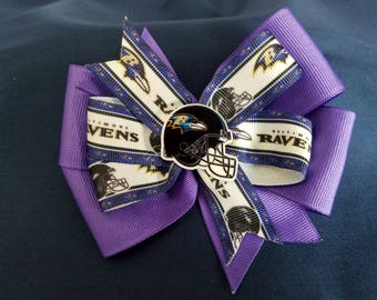 Baltimore Ravens Hair bow