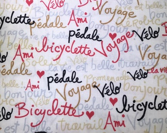 Bicycle french writing.  French words
