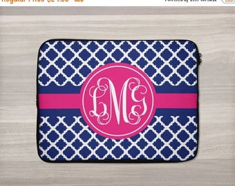 SALE - Monogram Laptop Sleeve - Personalized Laptop Sleeve - Macbook Sleeve - Laptop Bag - Tablet Sleeve - Netbook Case - iPad Sleeve - Quat