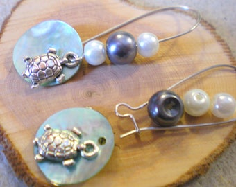 KIT was Gde BO * in the Green Sea TURTLE * silver plated