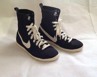Nike Racquette Mid Women's Shoes, Black High Top Sneaker, Court Shoe, Women's Size 11