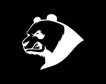 Panda Decal, Angry Panda Decal, Cute Panda Decals, Panda Yeti Decal Cooler Decal Laptop Window Wall Bumper Tablet Panda Decal Angry Pandas