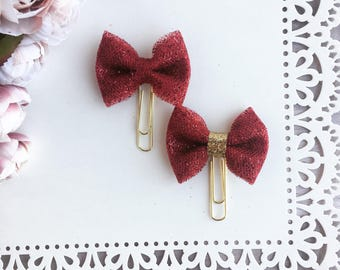 Glitter Tulle Bow Planner Paperclip