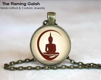 BUDDHA Pendant •  Praying Buddha •  Meditating Buddha •  Buddhist Jewellery •  Buddhism •  Made in Australia  (P1478)