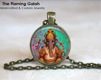GANESH Pendant • Hindu God of Good Fortune • God of Beginnings • God of Prosperity • Gift Under 20 • Made in Australia •  (P1503)