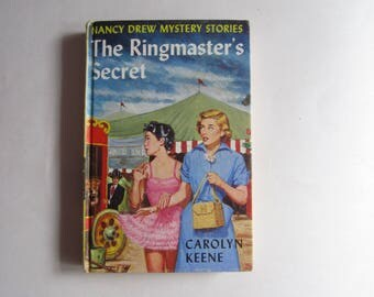 Nancy Drew The Ringmaster's Secret 1960s Original Text, Nancy Drew Number 31 Original Text, Nancy Drew vintage book, 1960s Nancy Drew book
