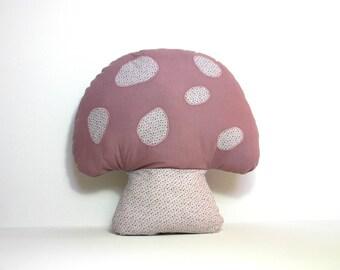 Cushion shape purple and small mushroom dots