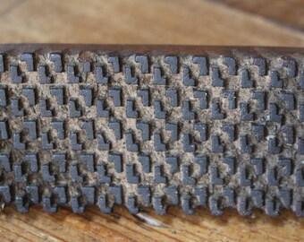 Antique Primitive Wood Printing Block Handmade Walls, Fabric Stamp