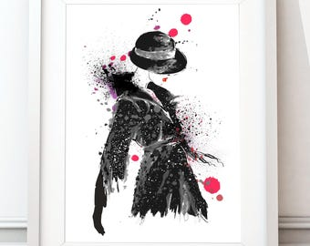 Lady in hat art print