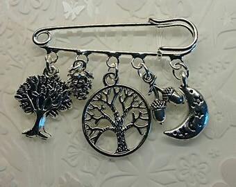 Pagan tree of life brooch~Pagan keyring~moon stars kilt pin brooch